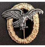 Luftwaffe observatie badge goud zonder swastika