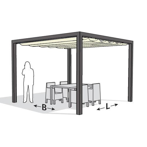 Nesling Nesling pergola aluminium Stand Alone