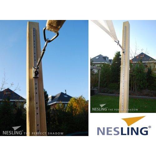 Nesling RVS rails met oog Nesling