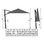 Nesling Nesling parasol 300x300 cm