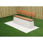Buitenplezier-online Beton bank standaard Deluxe met leuning