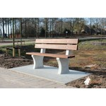 Buitenplezier-online Park bank beton met onderplaat