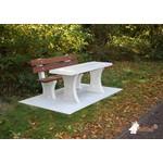 Buitenplezier-online Park bank beton met tafel onder plaat