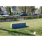 Buitenplezier-online Beton bank antraciet-beton