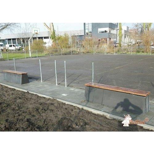 Buitenplezier-online Beton bank standaard Deluxe antraciet-beton