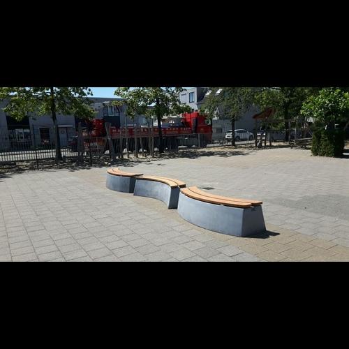 Buitenplezier-online Boombank set beton antraciet