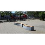 Buitenplezier-online Beton bank Deluxe antraciet ovaal