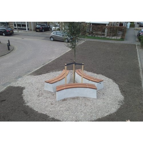 Buitenplezier-online Boombank set beton naturel