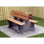 Buitenplezier-online Park bank beton duo antraciet