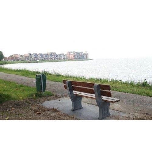 Buitenplezier-online Park bank beton met onderplaat antraciet