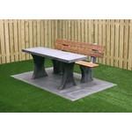Buitenplezier-online Park bank beton met tafel onder plaat antraciet