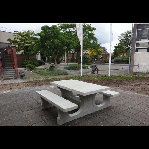 Buitenplezier-online Picknicktafel beton standaard naturel