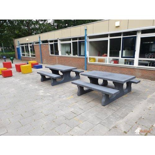 Buitenplezier-online Picknicktafel beton standaard antraciet-beton