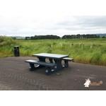Buitenplezier-online Picknicktafel beton standaard antraciet