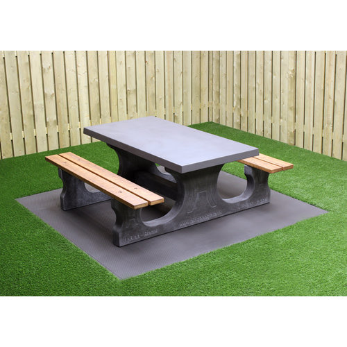 Buitenplezier-online Picknicktafel standaard Deluxe antraciet-beton