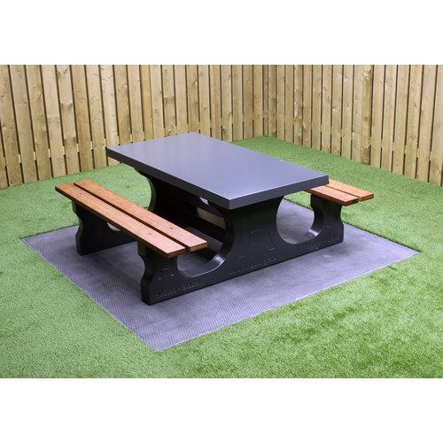 Buitenplezier-online Picknicktafel beton Deluxe antraciet