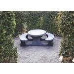 Buitenplezier-online Picknicktafel beton standaard ovaal antraciet-beton
