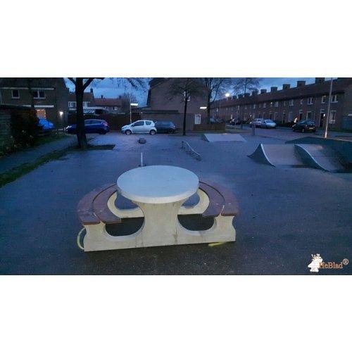 Buitenplezier-online Picknicktafel beton Deluxe ovaal