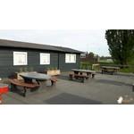 Buitenplezier-online Picknicktafel ovaal Deluxe antraciet-beton
