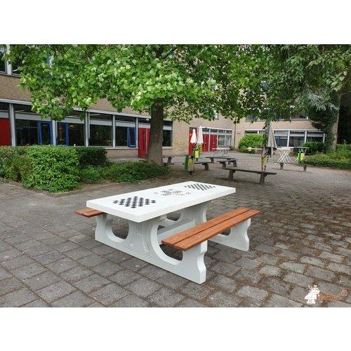 Buitenplezier-online Multi- spellen picknicktafel beton naturel