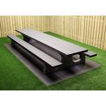 Buitenplezier-online Betonnen picknicktafel XL Antraciet-beton