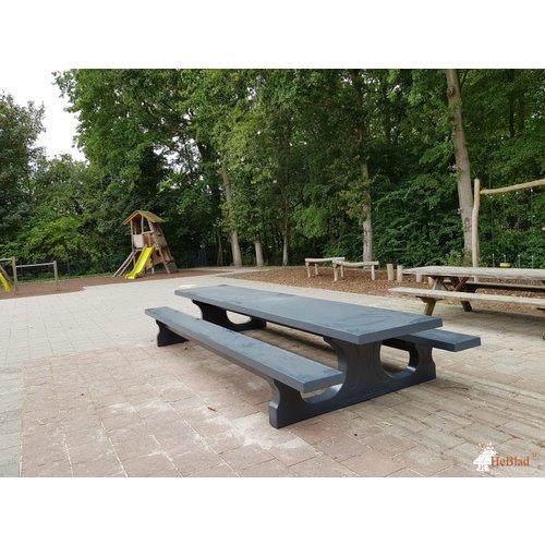 Buitenplezier-online Betonnen picknicktafel XL Antraciet
