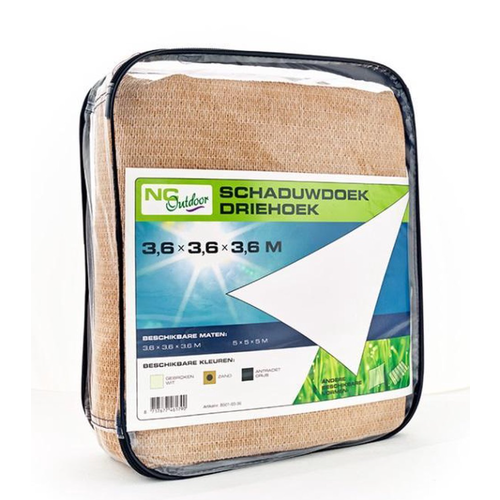 NC Outdoor Schaduwdoek NC outdoor Driehoek 360 cm zand
