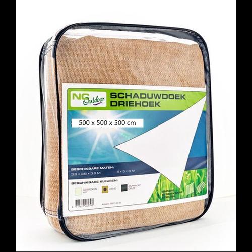 NC Outdoor Schaduwdoek NC outdoor Driehoek 500 cm zand
