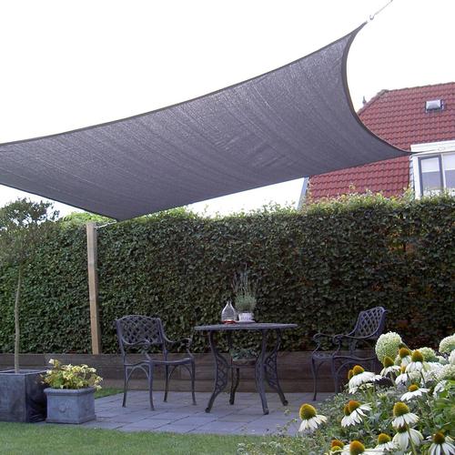 NC Outdoor Schaduwdoek NC outdoor vierkant 360 cm antraciet