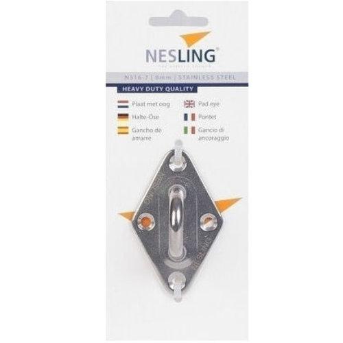 Nesling RVS bevestigingsplaat met oog Nesling