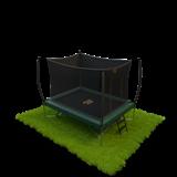 Rechthoekige trampolines met net