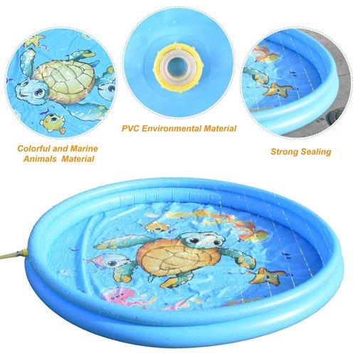 JD Outdoor Watermat Turtle met sproeier