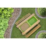 JD Outdoor kinderpicknicktafel 3in1 zand & watertafel met krijtbord