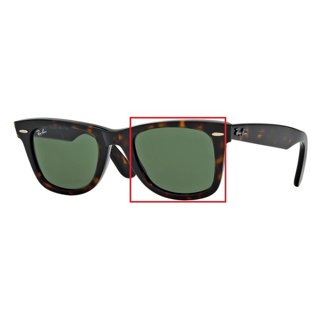 Ray-Ban Glazen Ray-Ban zonnebril standaard