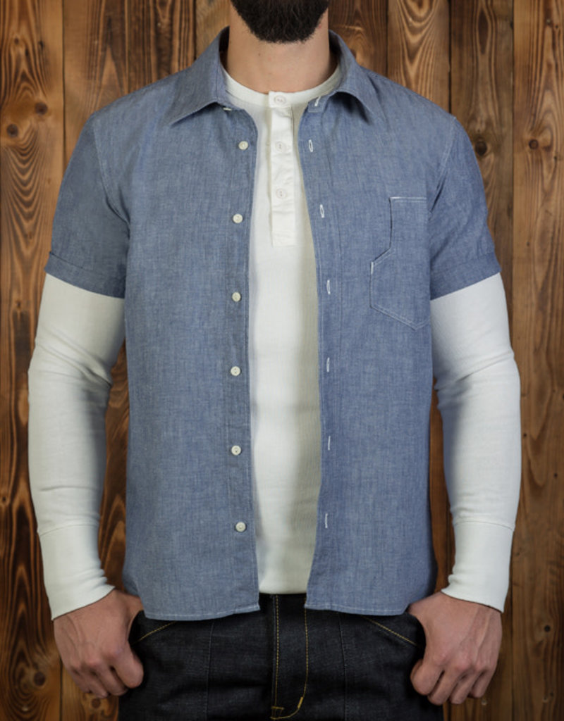 Pike Brothers Superior Garment 1937 Denim Roamer shirt short sleeve