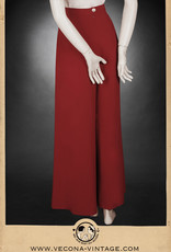 1930 Crepe pant Boardwalk Bonnie red