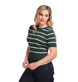 Collectif Lynn Striped Jumper Green