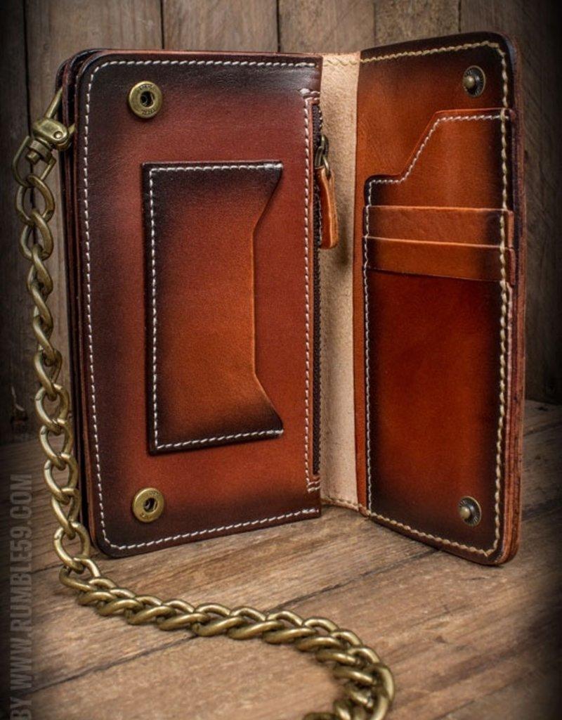 Rumble59 Wallet Handmade 'Hold Fast' sunburst