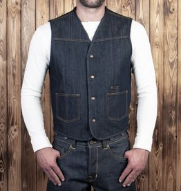 Pike Brothers Superior Garment 1966 Rodeo vest 13oz indigo