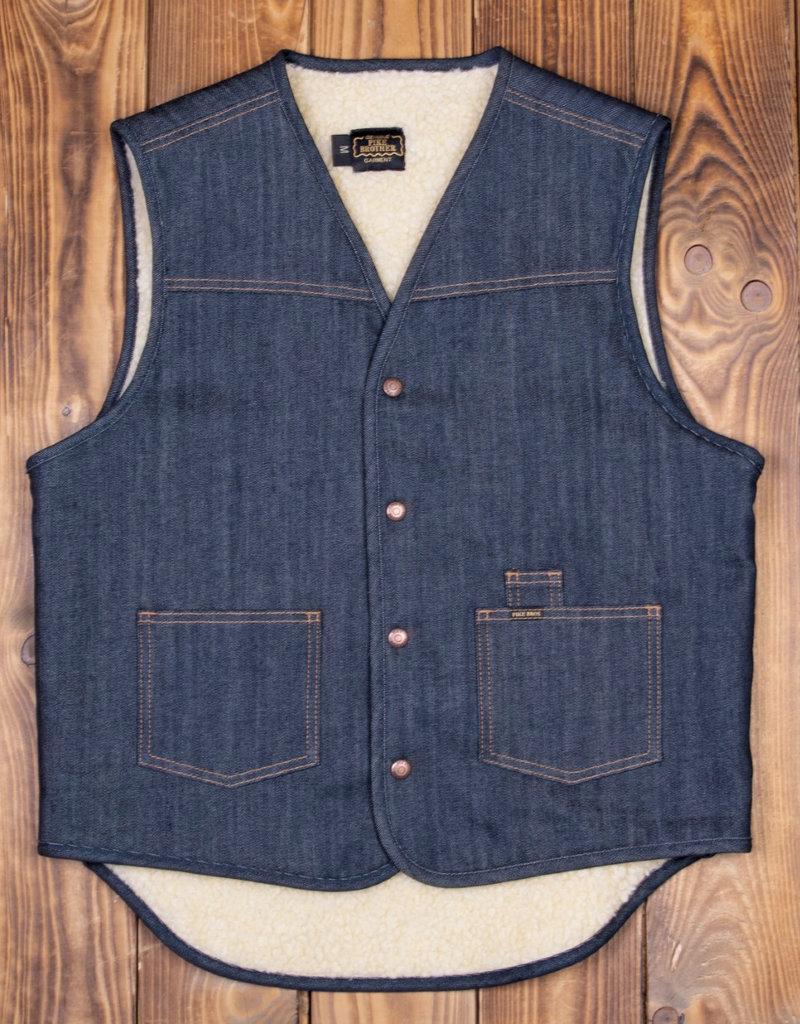 Pike Brothers Superior Garment 1966 Rodeo vest 13oz indigo