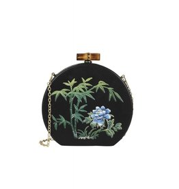 Collectif Tania Tiki Clutch Black/Green