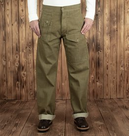 Pike Brothers Superior Garment 1952 Pattern Trousers olive selvage