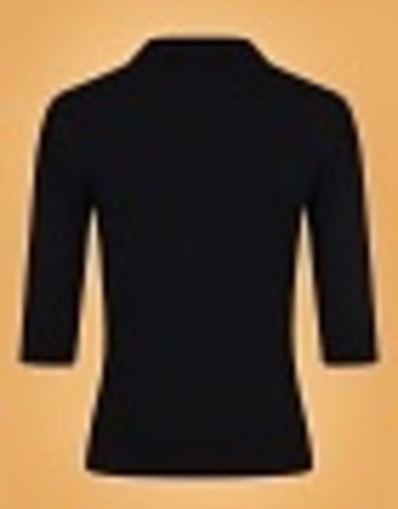 Collectif Jorgie knitted polo black