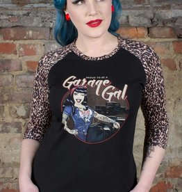 Rumble59 T-shirt Garage gal Leopard