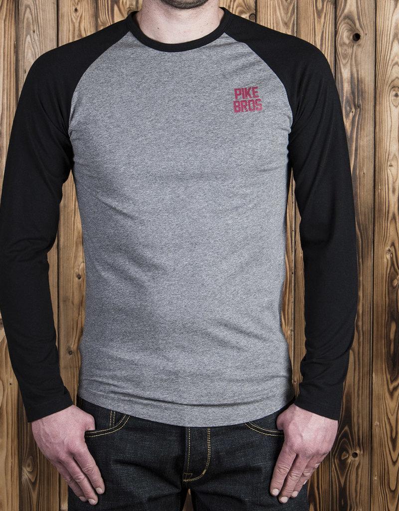 Pike Brothers Superior Garment 1968 Baseball shirt Black Melange