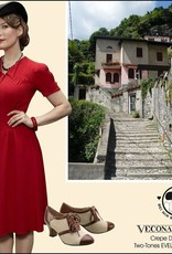Vecona vintage crêpe dress red