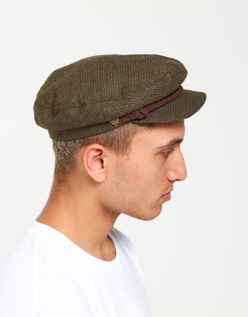 Brixton Fiddler cap Moss brown