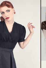 Von 50's blouse zwart pofmouw
