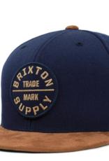 Brixton Oath III Snapback Tan/Navy