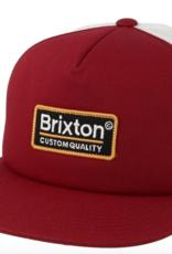 Brixton Palmer Mesh Cap Burgundy/Black